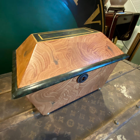 Sarried Ltd Burl Painted Box