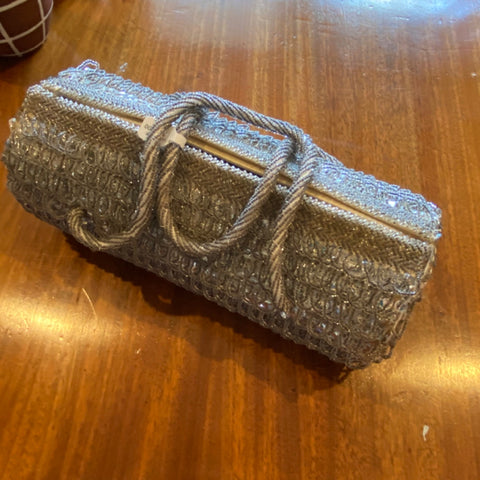 Silver Sequined Bag