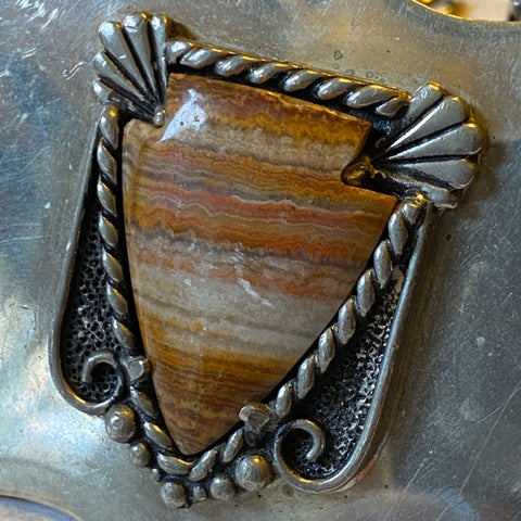 Sterling Navajo Belt Buckle