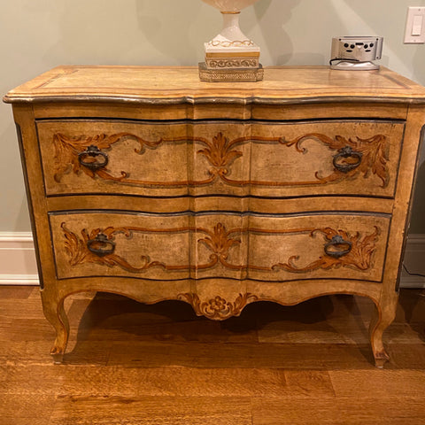 pair of hand painted 2 drawer chests