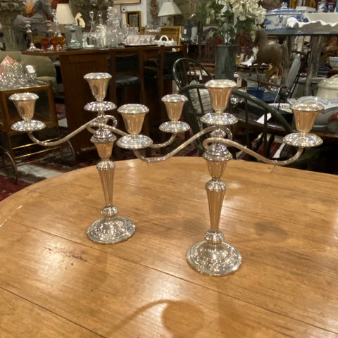 Pair of Sterling Silver Gorham Candelabras