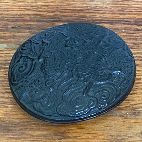Japanese Small Bronze Box with Dragon