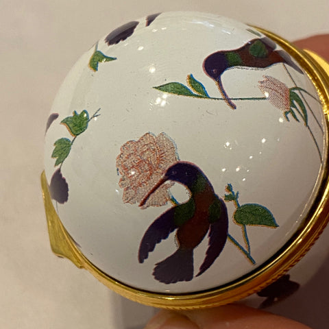 Small Enamel Egg Box