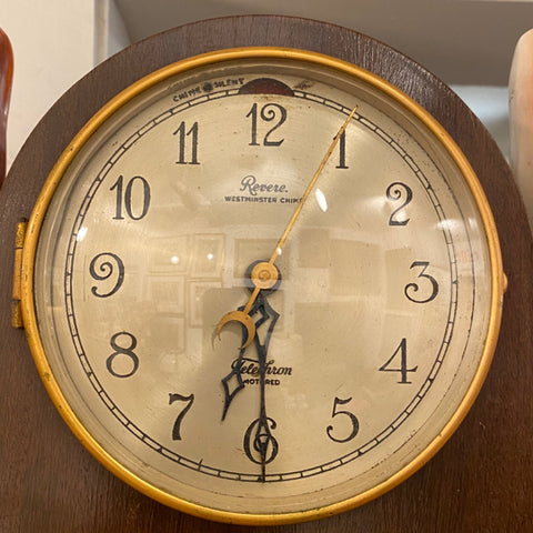 Vintage Telechron Revere Westminster Chime Clock Mahogany