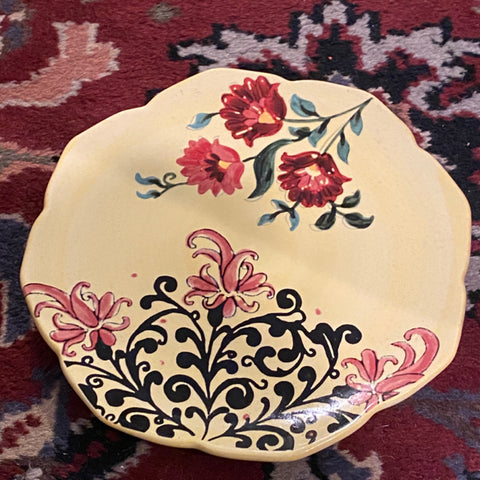 Roscher Yellow Floral Plates, Set of 10