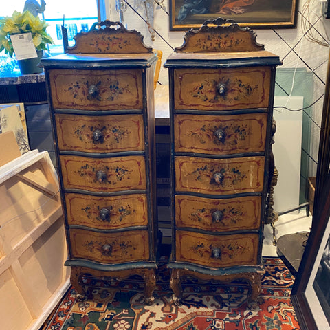 Pair of Painted Venetian Lingerie Chests