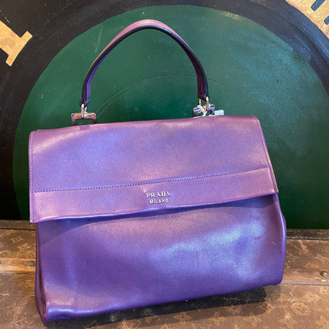 Authentic Purple Prada Bag