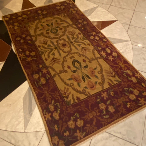 Red and Tan Tufenkian Armenian Designer Rug 3' x 5'4""