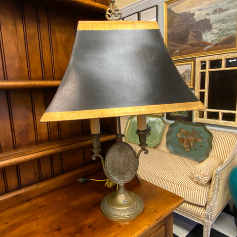 Metal Candelabra Style Lamp with Center Medallion