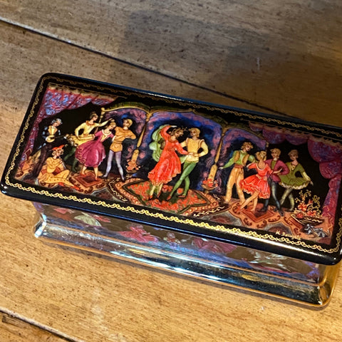 Russian porcelain signed and painted box