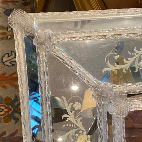 Venetian Glass Mirror Framed Mirror
