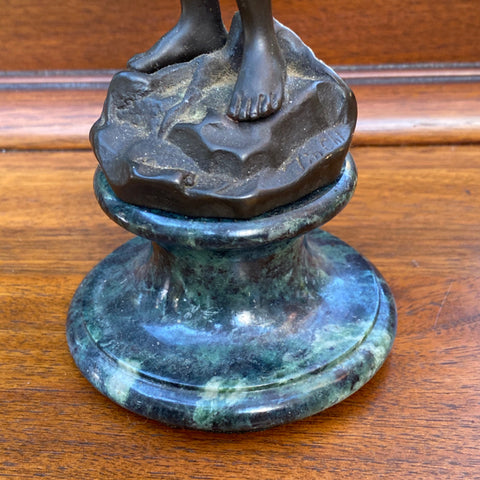 Small Bronze Sculpture, Signed Jim Chi