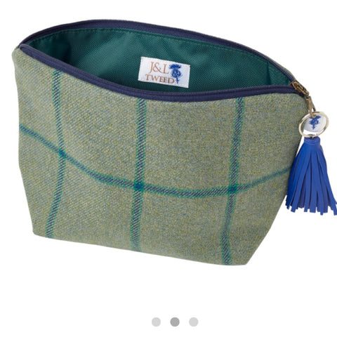 Small Walker Makeup Bag in Links House Tweed