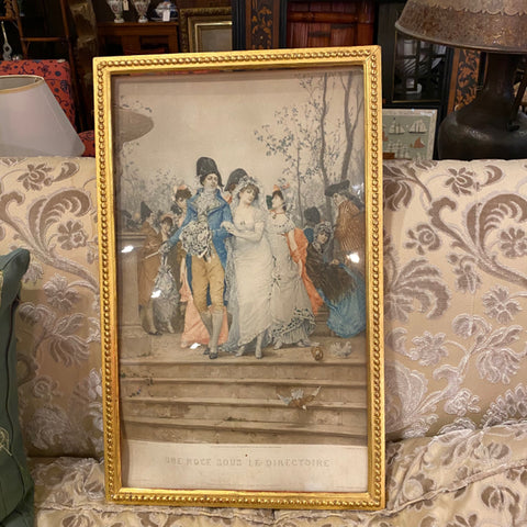 Print in Great Gold Beaded Frame