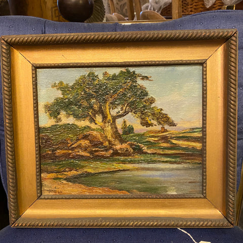 Signed oil painting by Jonas Lie