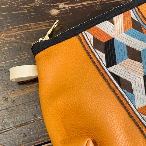 California Poppy Leather Lombard Street Pouch