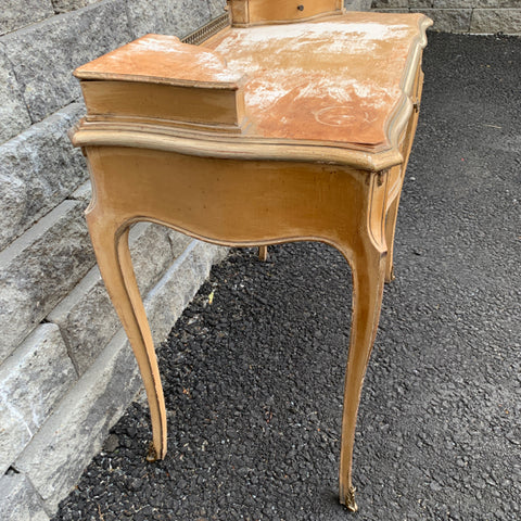 Petite French Desk Vanity with 3 Drawers