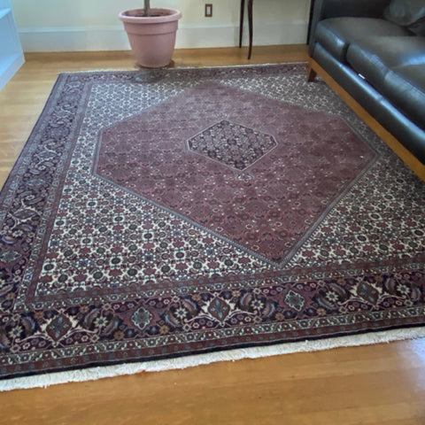"Heriz Rug, Rust Cream & Black with Central Medallion 8'3"" x 10'"