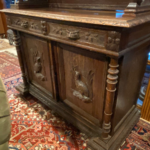 19thc Carved English Oak Buffet