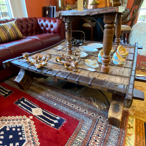 Rustic Wood & Metal Coffee Table