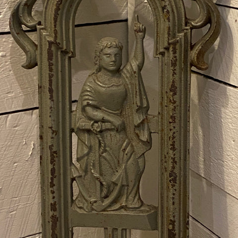 Post WW2 Allegorical Cast Iron Statue with Nautical Anchor Symbol