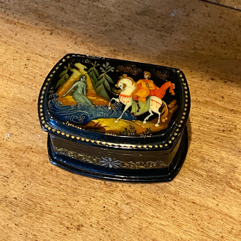 Russian Signed Lacquer Box