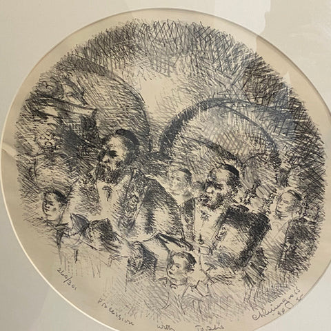 Etching of Rabbis