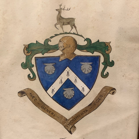 Antique Painting of the Townsend Coat of Arms