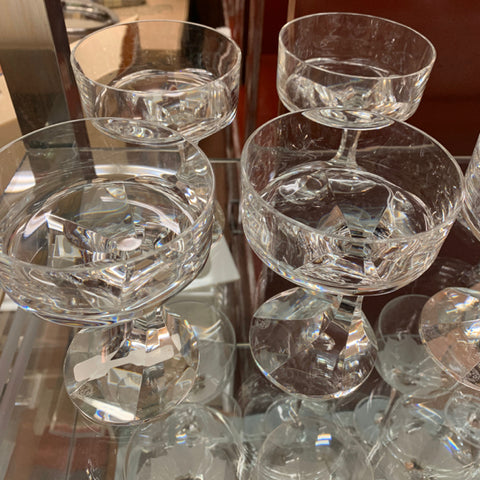 Baccarat French Crystal Asymmetric Glassware, Narcisse, Set of 12
