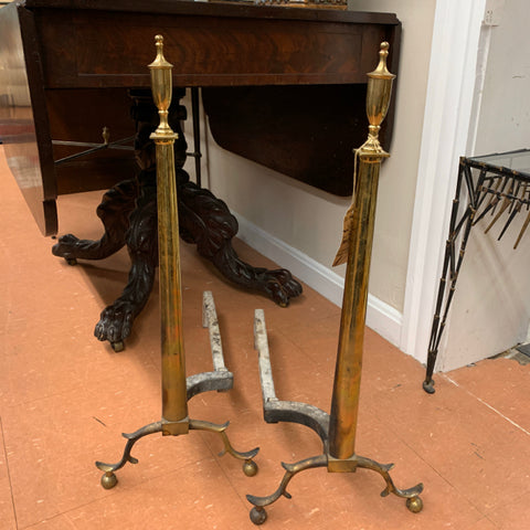 Brass Federal Andirons