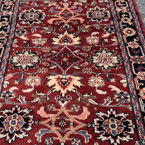 Burgundy Hand knotted Rug