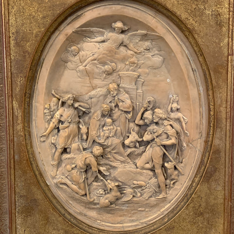 Carved Marble Plaque of Religious Scene
