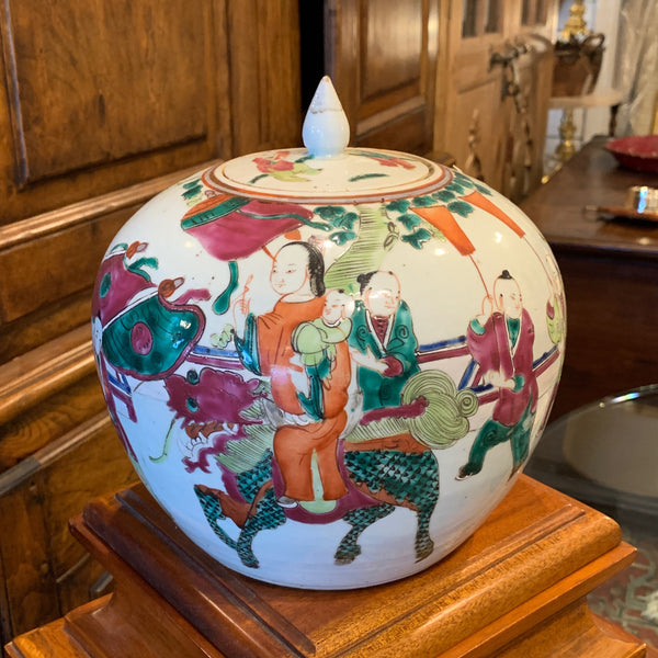 Chinese Famille Rose Porcelain Ginger Jar