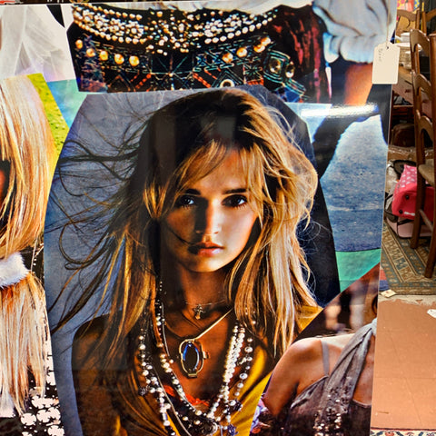 Fashion Photo Collage Printed on Metal