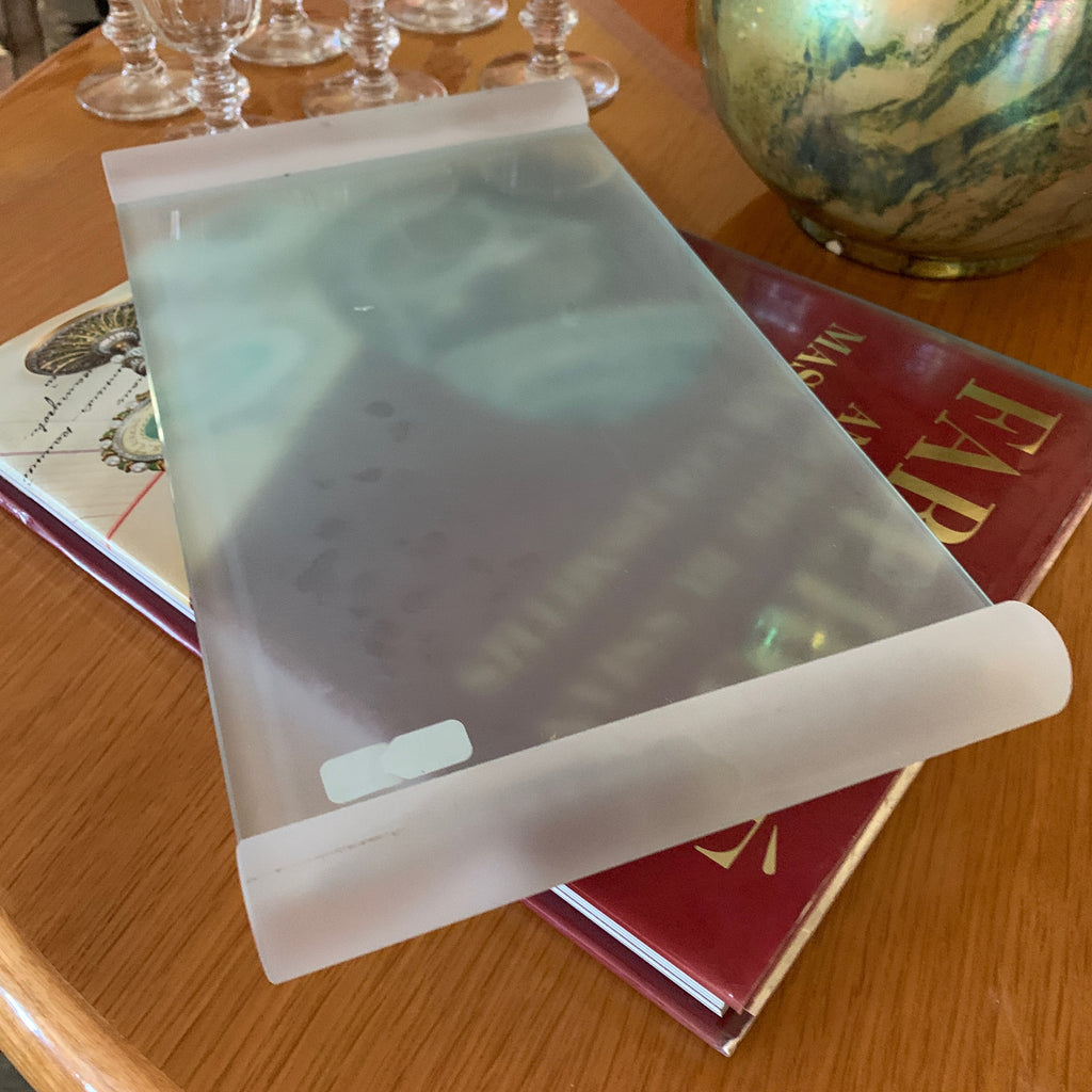 Frosted Glass Serving Platter