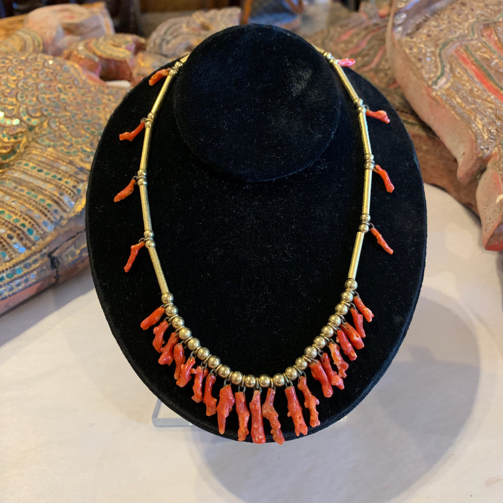 Gold Filled Branch Coral Necklace