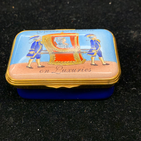 Halcyon Days Porcelain Trinket Box