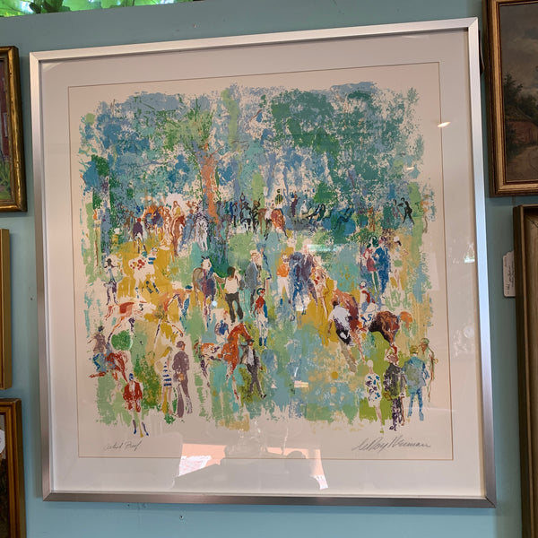Horse Races by Leroy Neiman, Artist Proof Serigraph