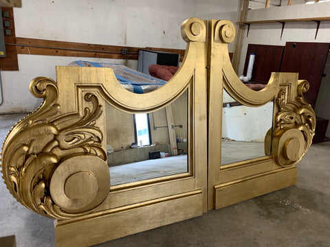 Large Gilt Wood Mirror