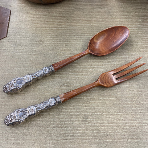 Pair of Gorham Sterling Handled Salad Utensils