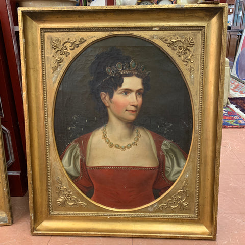Pair of Oil on CanvasNewport Caldwell Family Portraits Gilt Frames