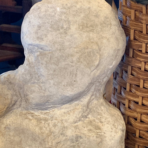 Reclining Stone Man Sculpture