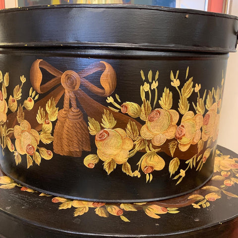 Set of 3 Tole Hand-painted Floral Boxes by Maitland Smith