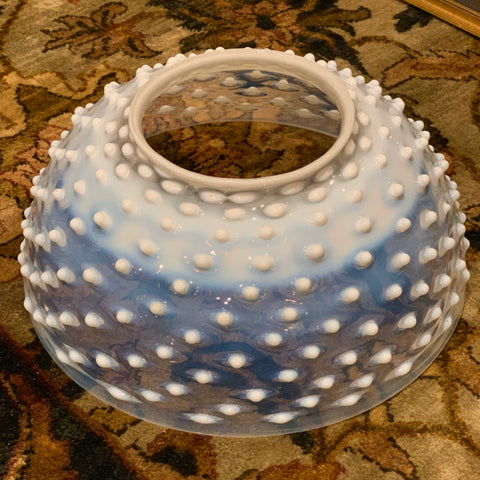 Victorian Opalescent Hobnail Glass Shade