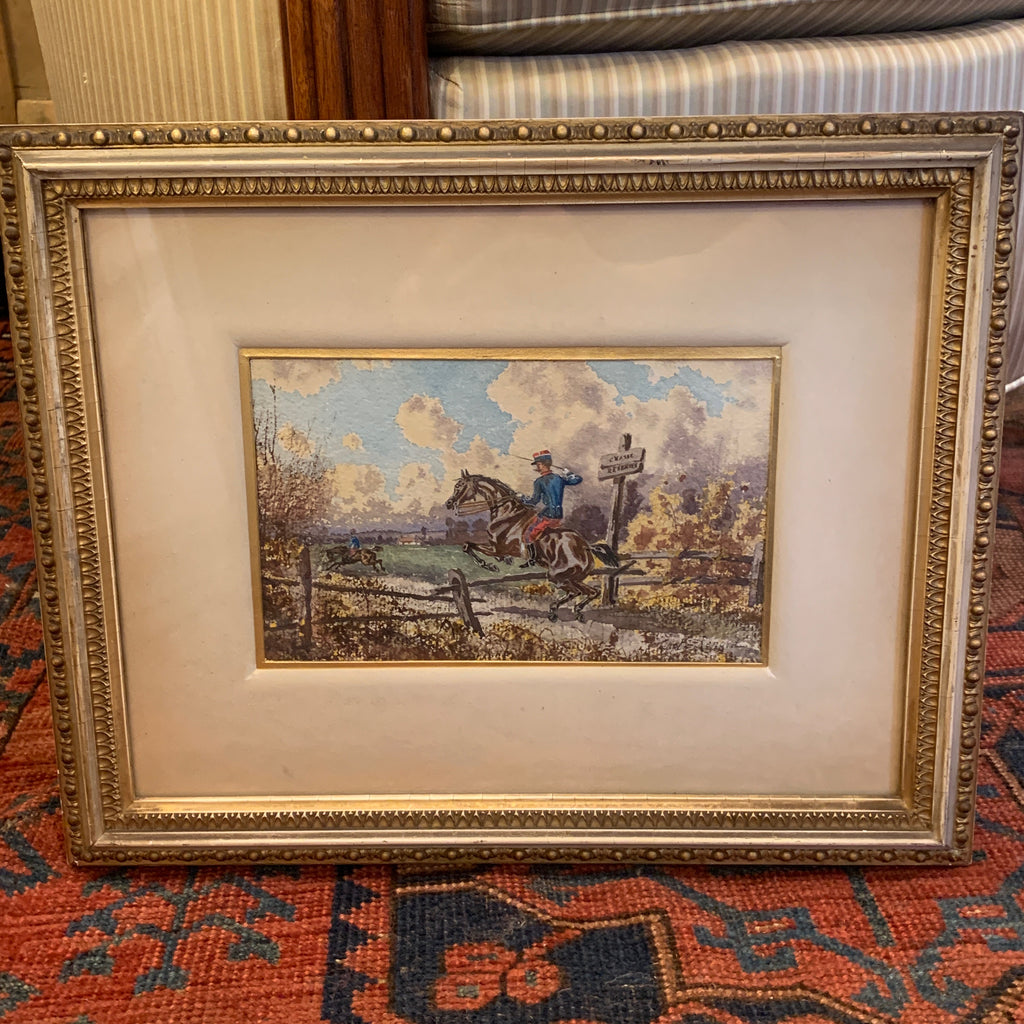Watercolor by Capt Renard, Signed