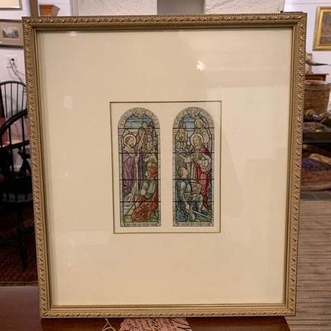 Watercolor of a Stained Glass Rendering by Abbott & Co