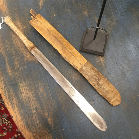 Early African Machete on Custom Stand