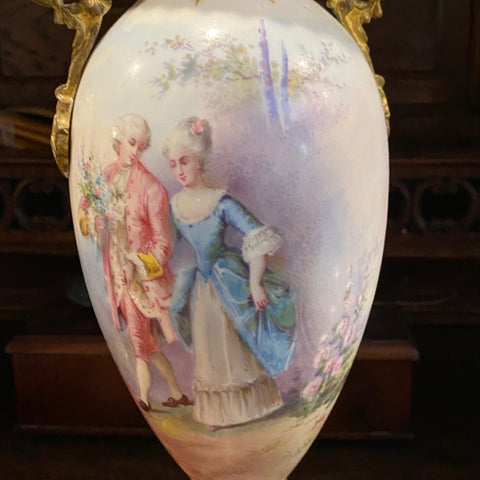 Hand Painted Porcelain Vase, signed Daly