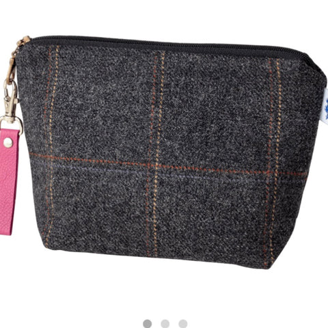 Small Walker Makeup Bag in Black Isle Tweed