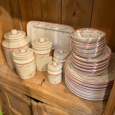 Set of Hartstone Pottery Dinnerware, 65 pieces